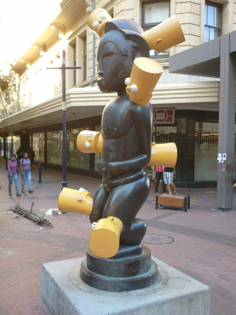 Bart Simpson statue, St George's Mall, Cape Town