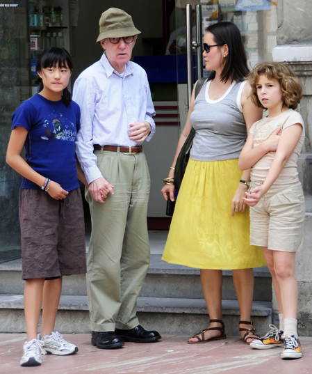 woody allen mia farrow his lover their child and her